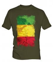 Mali Grunge Flag Mens T-Shirt
