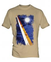 Marshall Islands Grunge Flag Mens T-Shirt