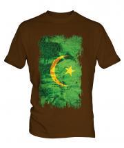 Mauritania Grunge Flag Mens T-Shirt