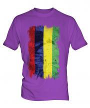 Mauritius Grunge Flag Mens T-Shirt