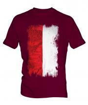 Monaco Grunge Flag Mens T-Shirt