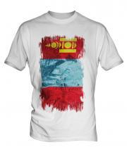 Mongolia Grunge Flag Mens T-Shirt