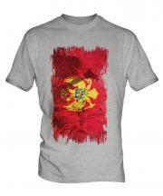 Montenegro Grunge Flag Mens T-Shirt
