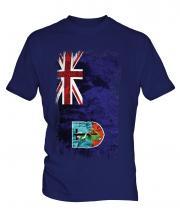 Montserrat Grunge Flag Mens T-Shirt