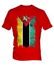 Mozambique Grunge Flag Mens T-Shirt