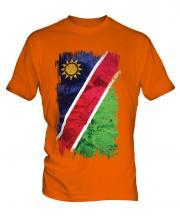 Namibia Grunge Flag Mens T-Shirt