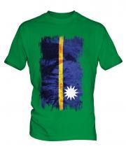 Nauru Grunge Flag Mens T-Shirt