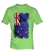 New Zealand Grunge Flag Mens T-Shirt