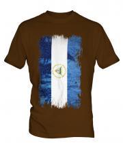 Nicaragua Grunge Flag Mens T-Shirt