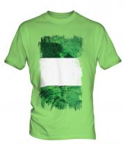 Nigeria Grunge Flag Mens T-Shirt
