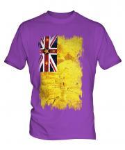 Niue Grunge Flag Mens T-Shirt