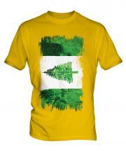 Norfolk Island Grunge Flag Mens T-Shirt
