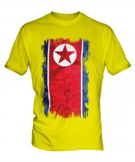 North Korea Grunge Flag Mens T-Shirt