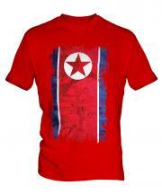 North Korea Grunge Flag Mens T-Shirt