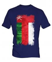 Oman Grunge Flag Mens T-Shirt