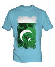 Pakistan Grunge Flag Mens T-Shirt