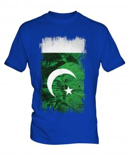 Pakistan Grunge Flag Mens T-Shirt