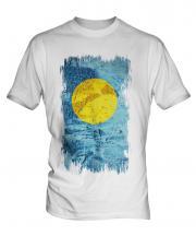 Palau Grunge Flag Mens T-Shirt