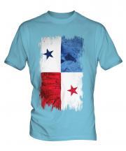 Panama Grunge Flag Mens T-Shirt