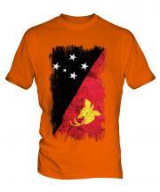 Papua New Guinea Grunge Flag Mens T-Shirt
