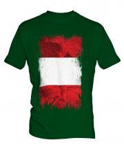 Peru Grunge Flag Mens T-Shirt