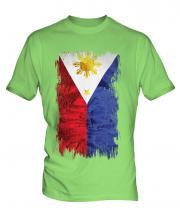 Philippines Grunge Flag Mens T-Shirt