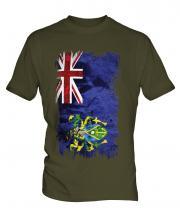 Pitcairn Islands Grunge Flag Mens T-Shirt