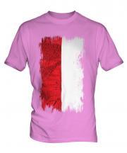 Poland Grunge Flag Mens T-Shirt