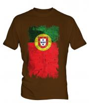 Portugal Grunge Flag Mens T-Shirt
