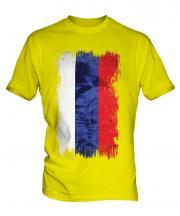 Russia Grunge Flag Mens T-Shirt