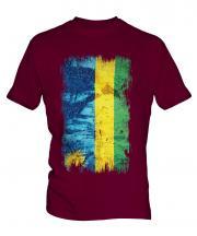 Rwanda Grunge Flag Mens T-Shirt