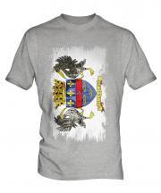 Saint Barthelemy Grunge Flag Mens T-Shirt