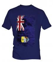 Saint Helena Grunge Flag Mens T-Shirt