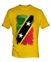Saint Kitts And Nevis Grunge Flag Mens T-Shirt