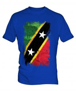 Saint Kitts And Nevis Grunge Flag Mens T-Shirt