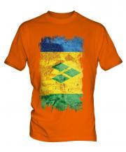Saint Vincents And The Grenadines Grunge Flag Mens T-Shirt