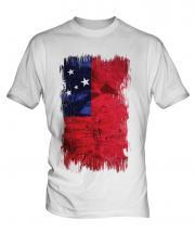 Samoa Grunge Flag Mens T-Shirt