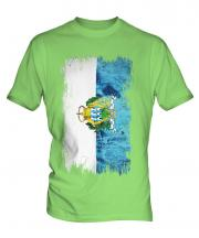 San Marino Grunge Flag Mens T-Shirt