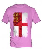 Sark Grunge Flag Mens T-Shirt