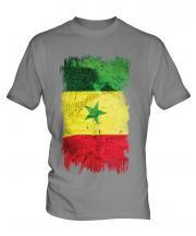 Senegal Grunge Flag Mens T-Shirt