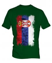 Serbia Grunge Flag Mens T-Shirt