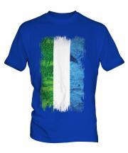 Sierra Leone Grunge Flag Mens T-Shirt