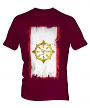 Sikkim Grunge Flag Mens T-Shirt