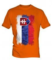 Slovakia Grunge Flag Mens T-Shirt