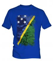 Solomon Islands Grunge Flag Mens T-Shirt
