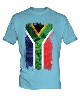 South Africa Grunge Flag Mens T-Shirt