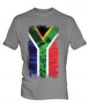 South Africa Grunge Flag Mens T-Shirt