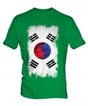 South Korea Grunge Flag Mens T-Shirt