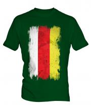 South Ossetia Grunge Flag Mens T-Shirt