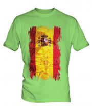 Spain Grunge Flag Mens T-Shirt